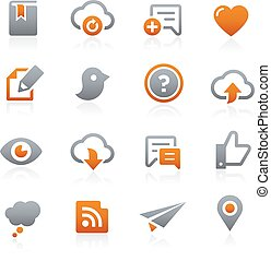 Web and Mobile Icons 8 Graphite - Icons for your digital or...