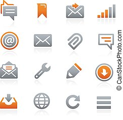 Web and Mobile Icons 9 Graphite - Icons for your digital or...