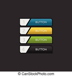 Web and ui application color button on dark background