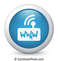 web, anschluss, klicken, ikone