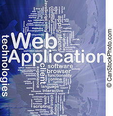 Web application background concept - Background concept...