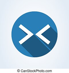 Web Arrow Right Left Flat Icon On White Background