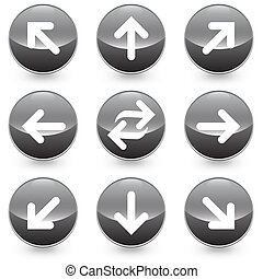 Web arrow vector icons