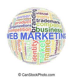 web, bal, woord, markeringen, marketing, wordcloud