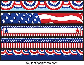 web, bandiere, elezione