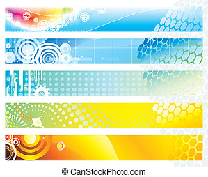 Web Banner - Banners design set of vector illustration...