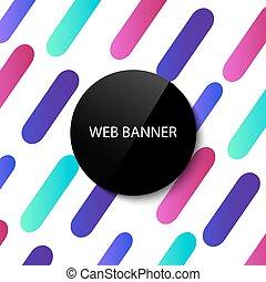 Web banner design template. Vector illustration. Modern graphic design element. Abstract geometric wallpaper.
