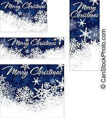 web, banner, schneeflocken, weihnachten