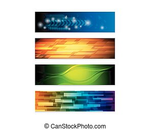 web banner set - set of abstract colorful banner