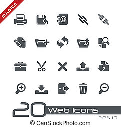 //, web, basi, icone