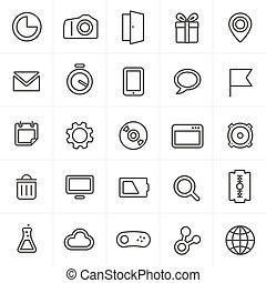 web beelden, moderne, vrijstaand, verzameling, witte