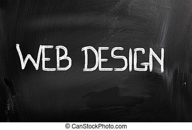 web, begriff, design