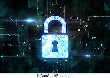 web, begriff, sicherheit, cyberspace