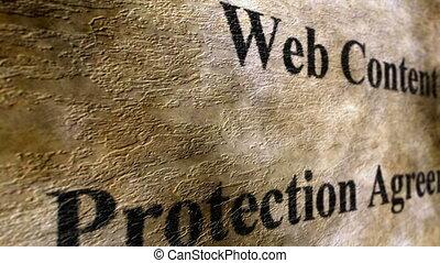 web, bescherming, overeenkomst