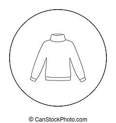 web, beweeglijk, trui, illustratie, vector, pictogram