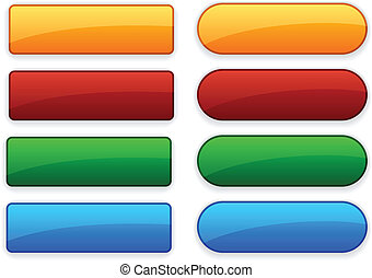 Web blank buttons. - Blank web color buttons. Vector.