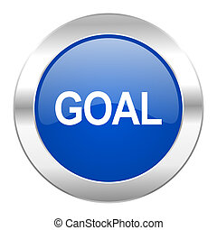 web, blauwe , chroom, vrijstaand, doel, pictogram, cirkel