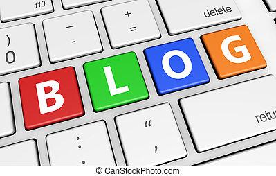Web Blog Sign Keyboard