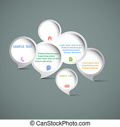 web, bolle, discorso, disegno