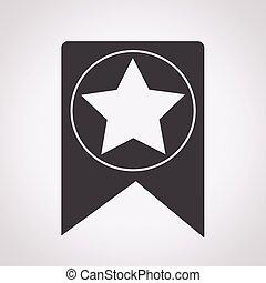 Web Bookmark Ribbon Icon