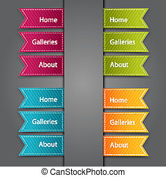 Web Bookmarks. Vector illustration - Web Bookmarks for you...