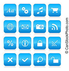 web, bottone, set