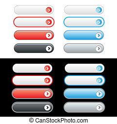 web, bottone, set, plastica