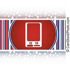 web, bottone, telefono, vettore, far male, icona