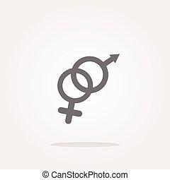 web, bottone, vettore, femmina, simbolo maschio, icona