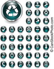 web, bottoni, icone