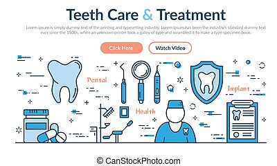 web, -, bouwterrein, header, behandeling, teeth, care