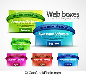 Web boxes - Clean web boxes. Web design assets