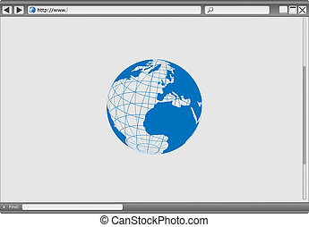 Web Browser - Blank Modern Internet Web Browser With...