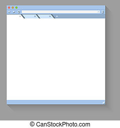 Web browser flat vector template with white copy space.