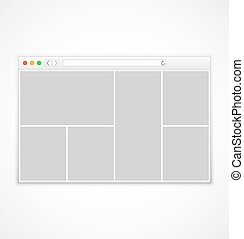 Web browser window on white background