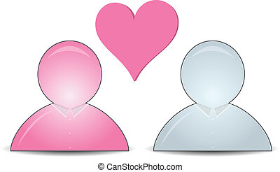 web buddy icons with a heart