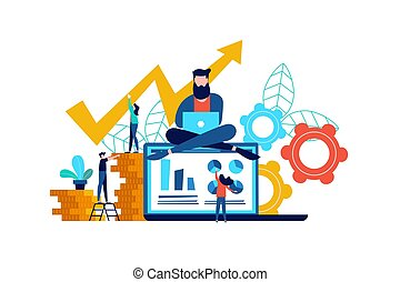 Web business concept or finance computer app idea