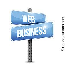 web business road sign illustration design