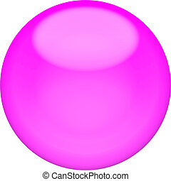 Web button 3d - purple glossy sphere, isolated