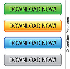 "Web button ""Download Now!"" for web page in internet"
