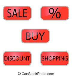 Web button for shooping and online shop