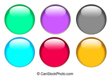 web button icon on white background. flat style. button for your web site design, logo, app, UI. glassy button set sign.