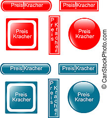 web button preiskracher set