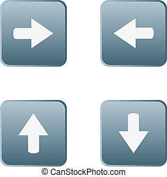 web button stickers arrow sign