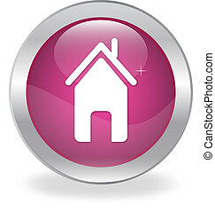 Web button with the house