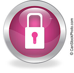 web button with the padlock