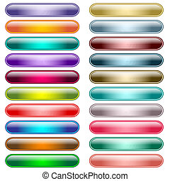 Web buttons 20 shiny assorted colors