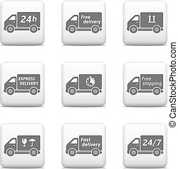 Web buttons - delivery and shipping