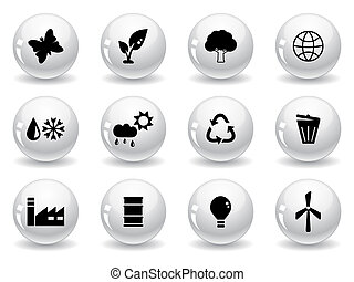 Web buttons, environment icons
