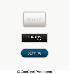 Web buttons flat design vector template